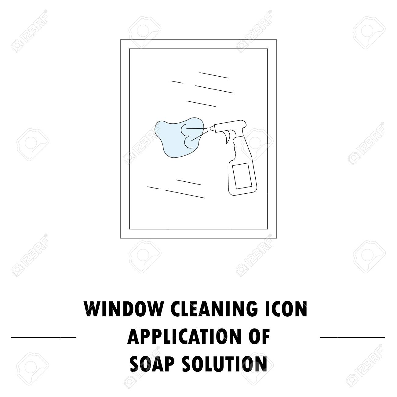 Window cleaning icon high quality outline pictogram of window high quality outline pictogram of window cleaning vector color symbol for design website visit card mobile app logo etc ccuart Image collections