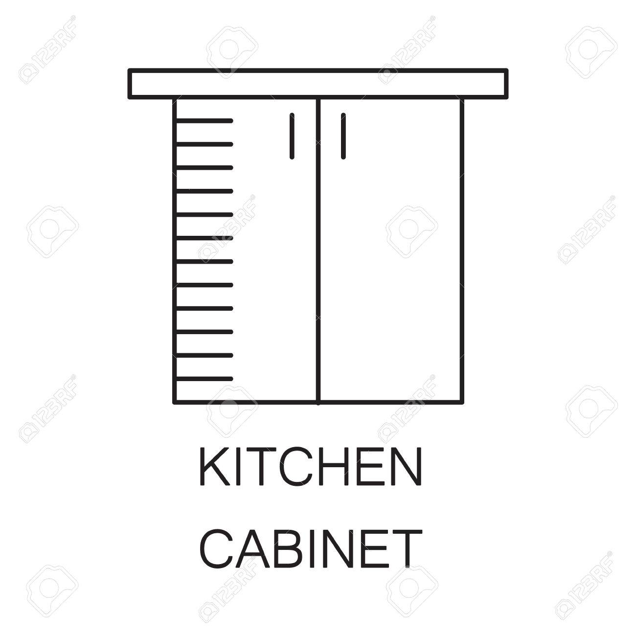 Kitchen Cabinet Icon High Quality Outline Element On The Topic