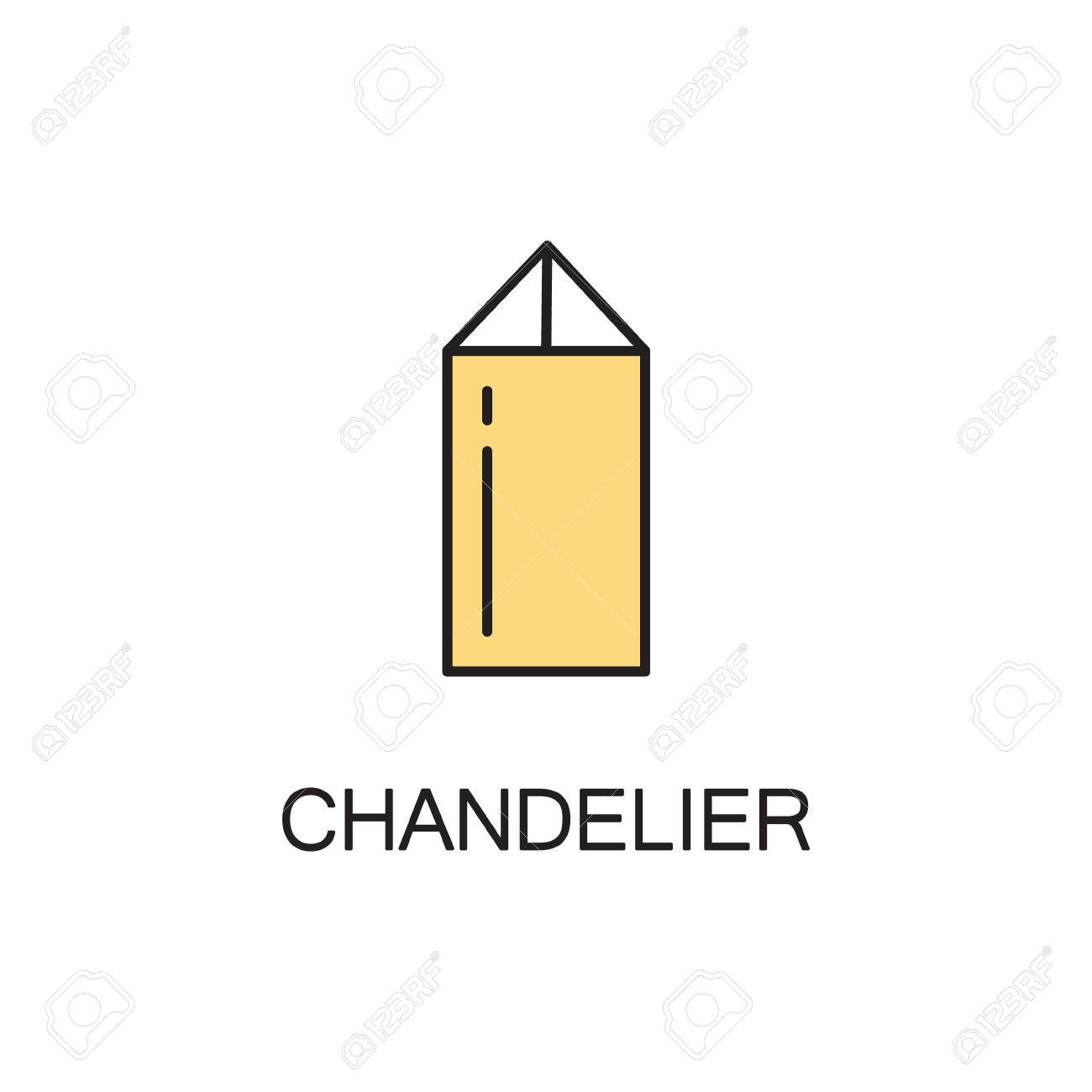 Chandelier line icon high quality pictogram of homes furniture high quality pictogram of homes furniture outline vector symbol for design ccuart Image collections