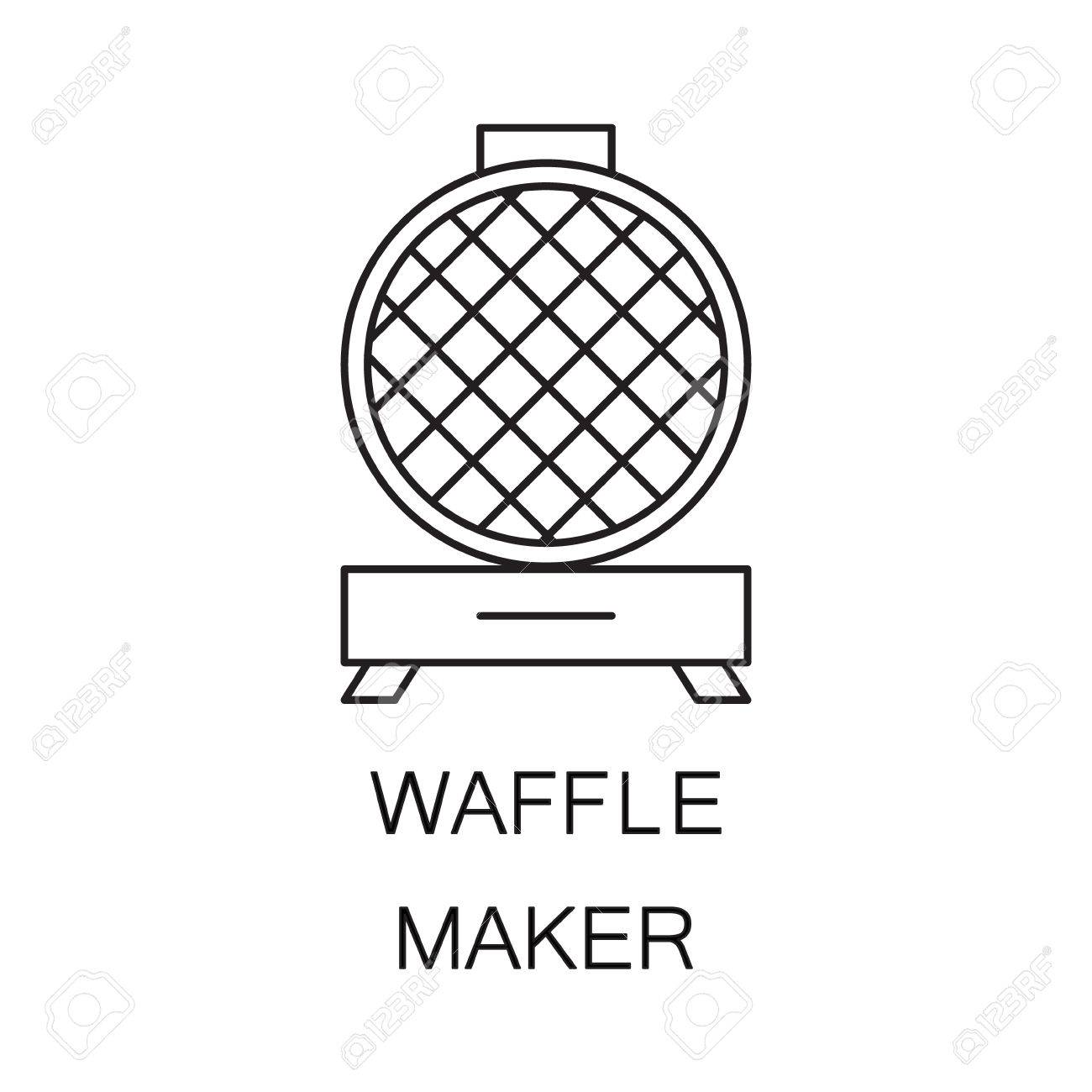 Waffle Iron Icon High Quality Outline Element On The Topic Of