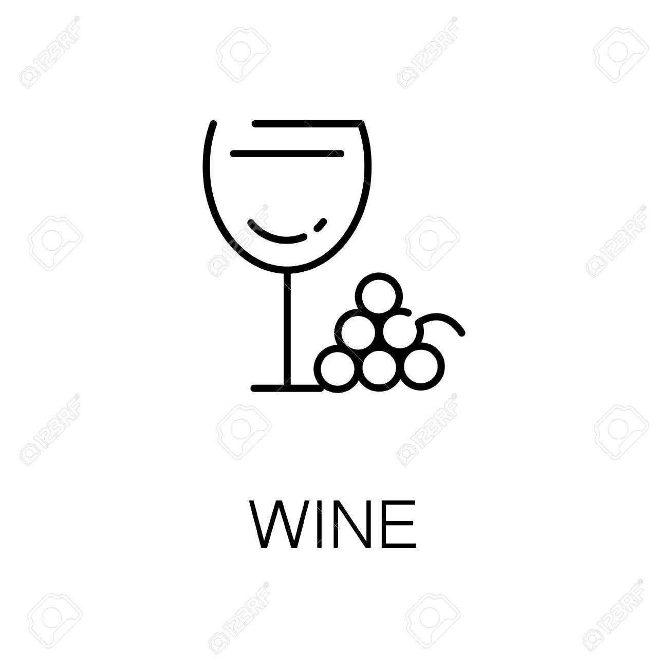 Wine flat icon single high quality outline symbol of alcohol for wine flat icon single high quality outline symbol of alcohol for web design or mobile biocorpaavc Gallery