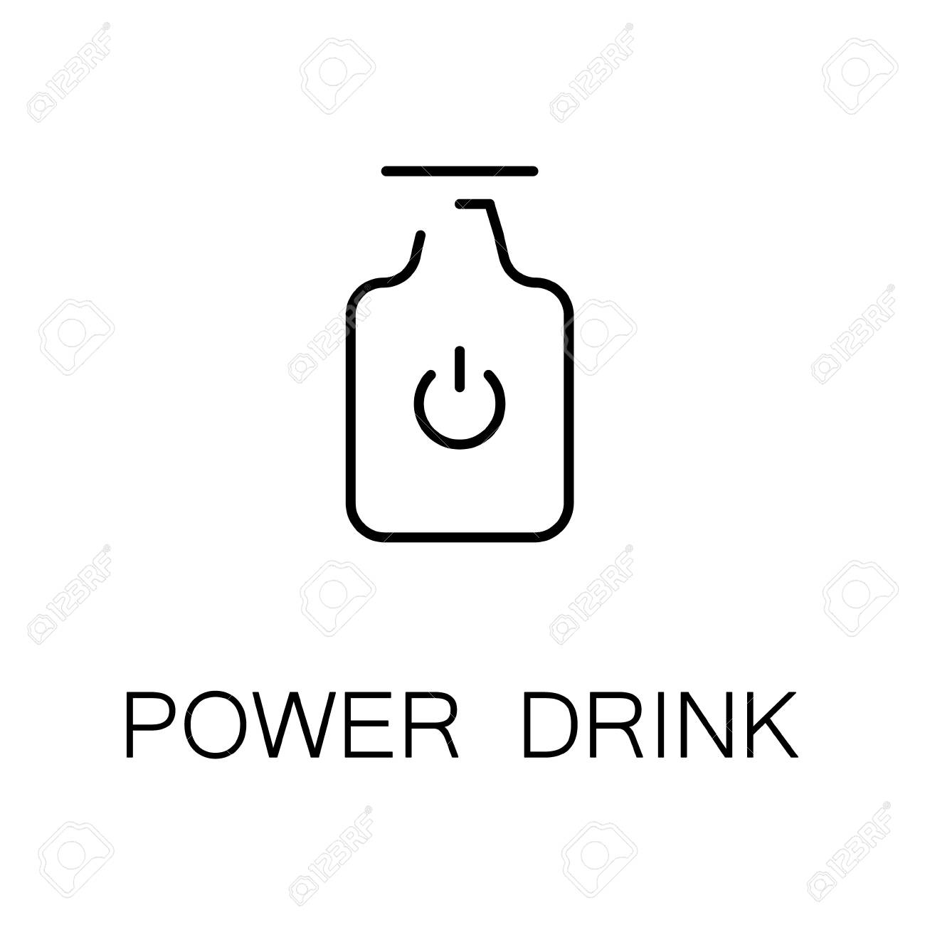 Power drink flat icon single high quality outline symbol of power drink flat icon single high quality outline symbol of energy drink for web design biocorpaavc Gallery
