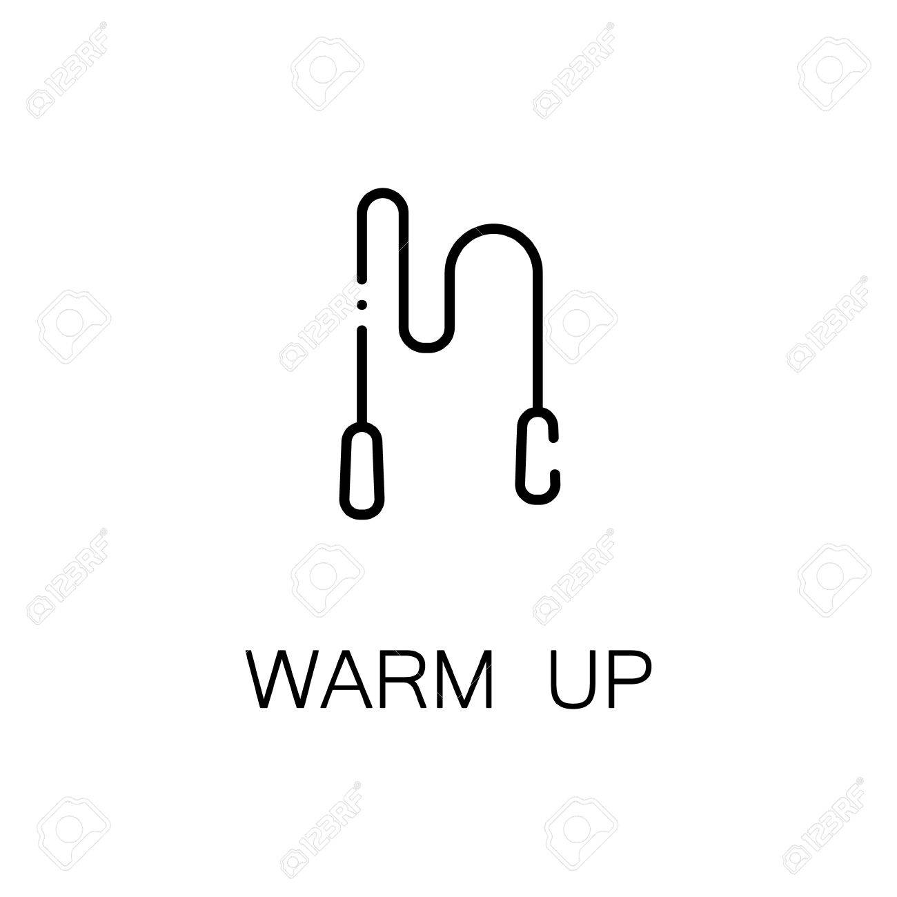 Warm Up Flat Icon Single High Quality Outline Symbol Of Fitness