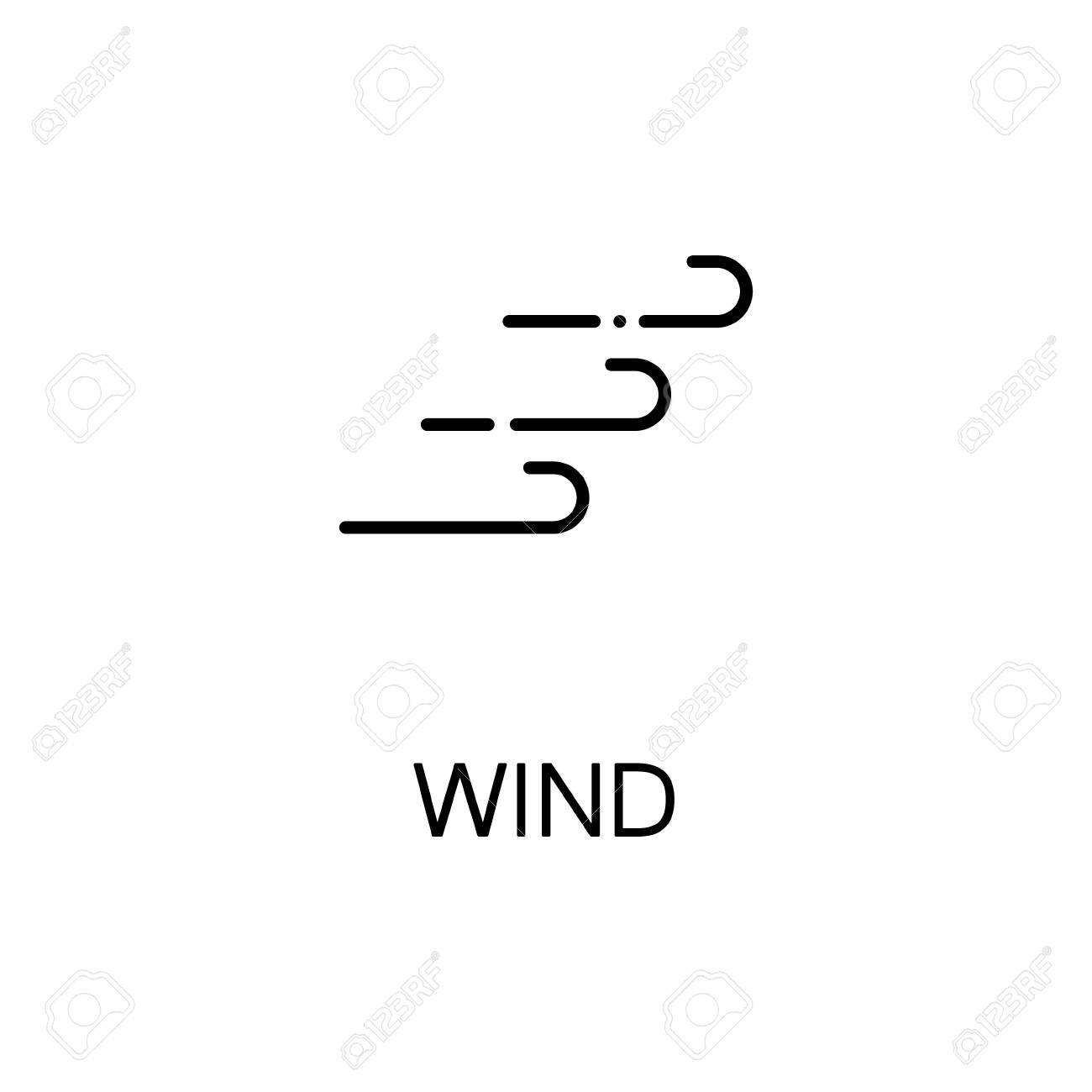 Wind Flat Icon Single High Quality Outline Symbol Of Autumn