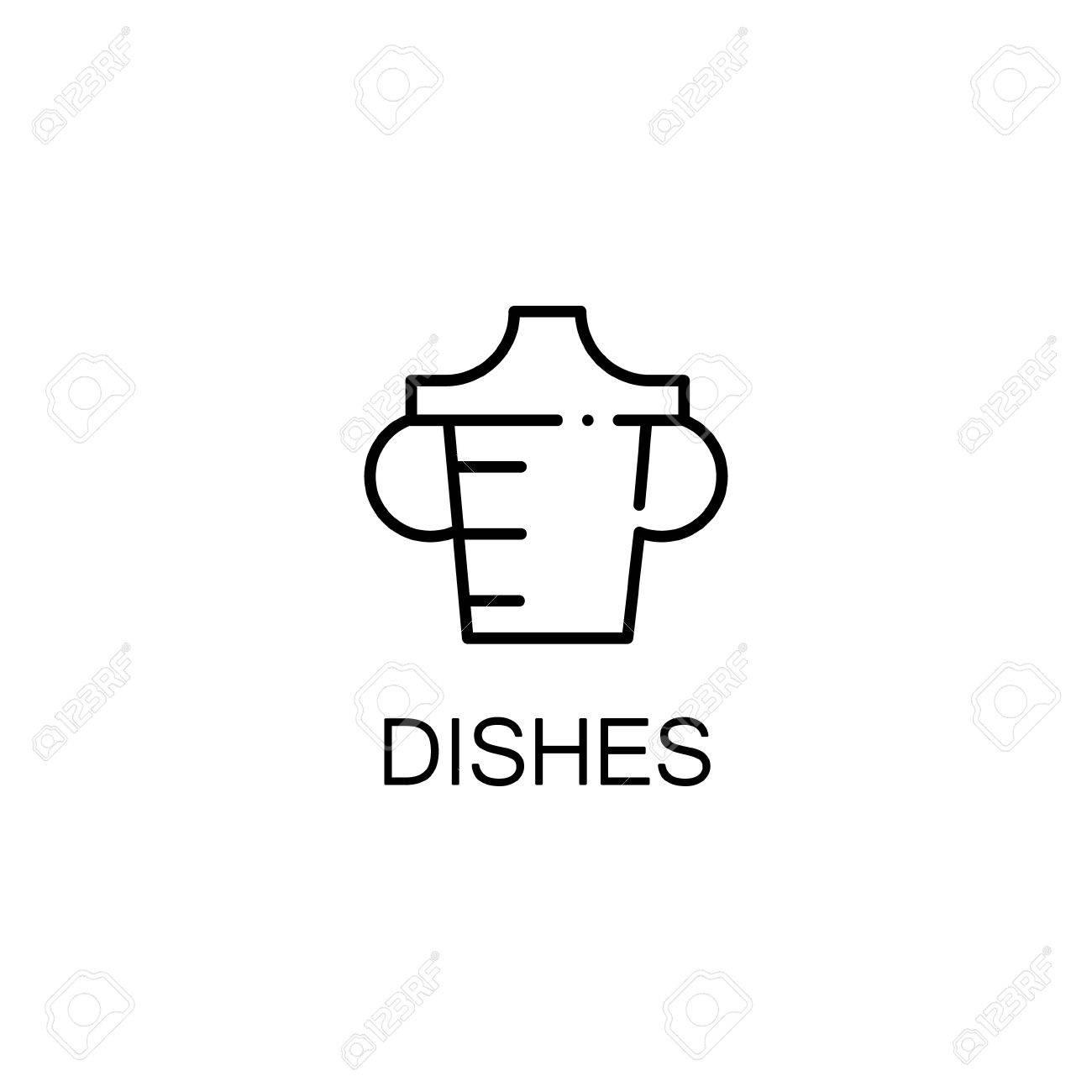 Plats Icone Plate Symbole Unique De Conception Haute Qualite Pour La Sites Web Ou Lapplication Mobile Lignes Minces Le