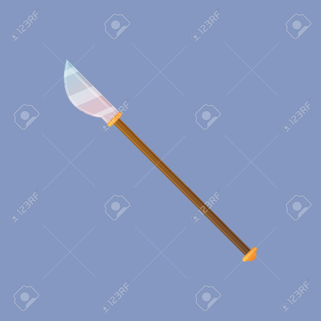 Spear vector illustration  Single decoration weapon for game