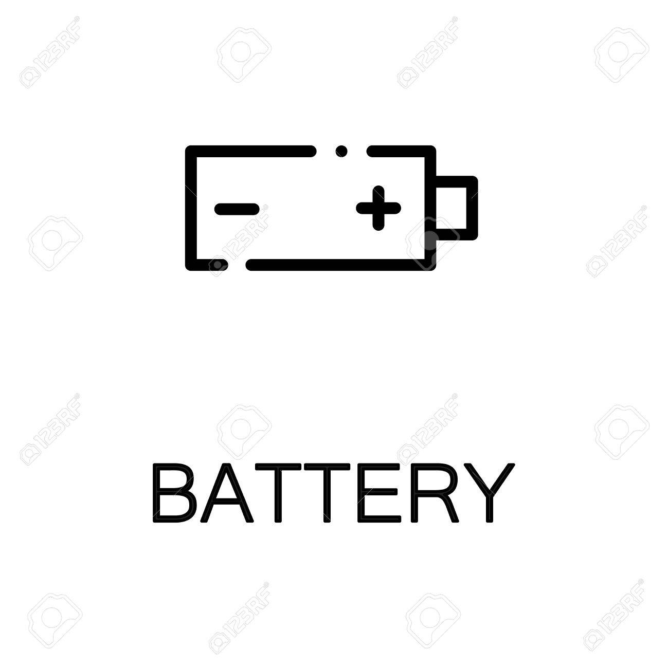 Battery Icon. Single High Quality Outline Symbol For Web Design ...