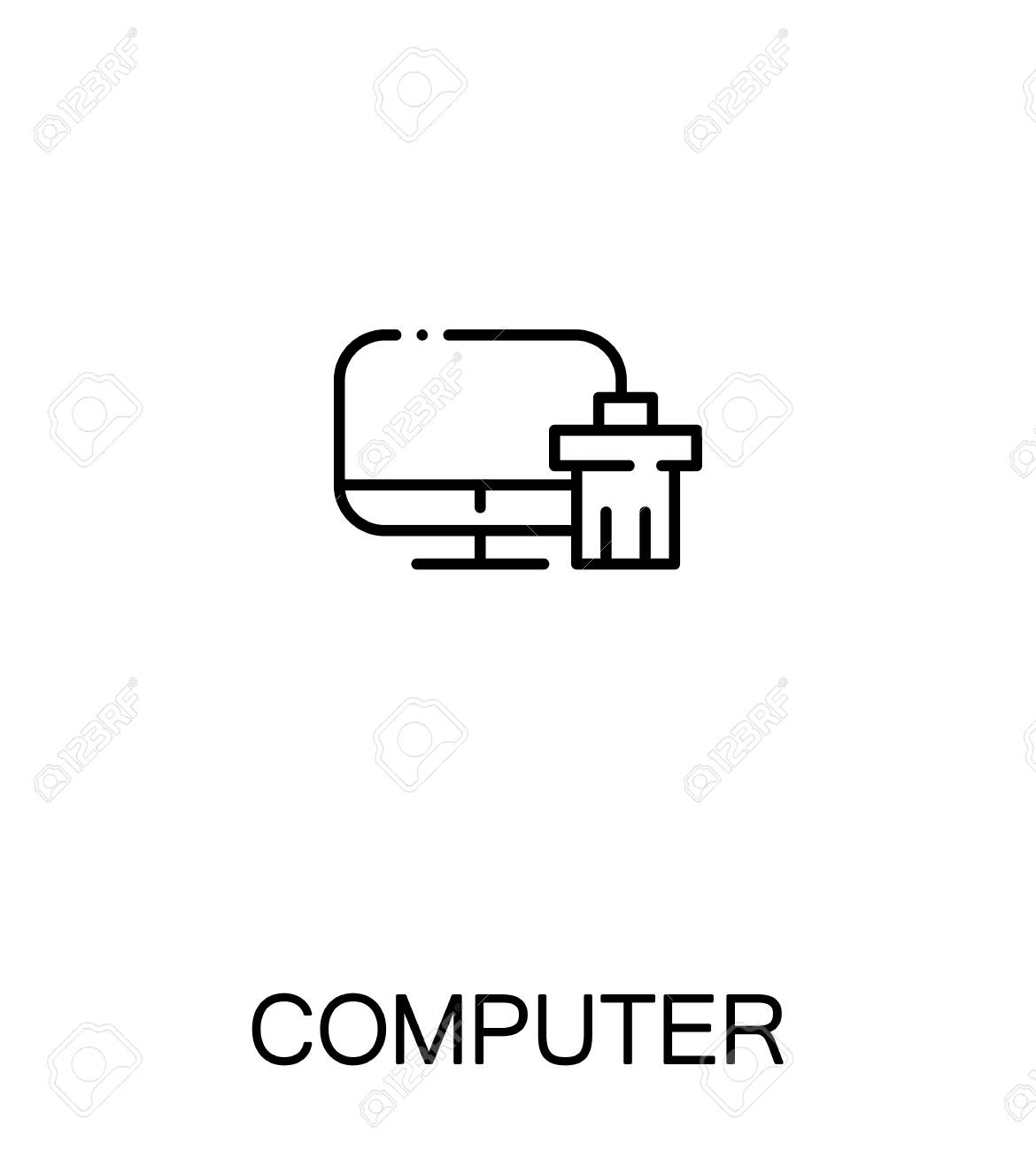 Computer Icon Single High Quality Outline Symbol For Web Design