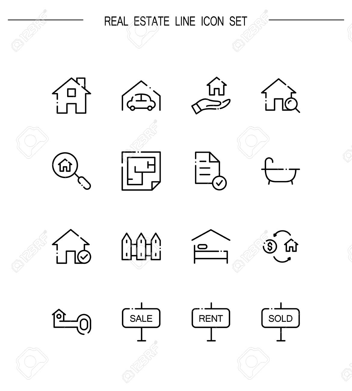 Real estate flat icon set collection of high quality outline real estate flat icon set collection of high quality outline symbols for web design biocorpaavc Image collections