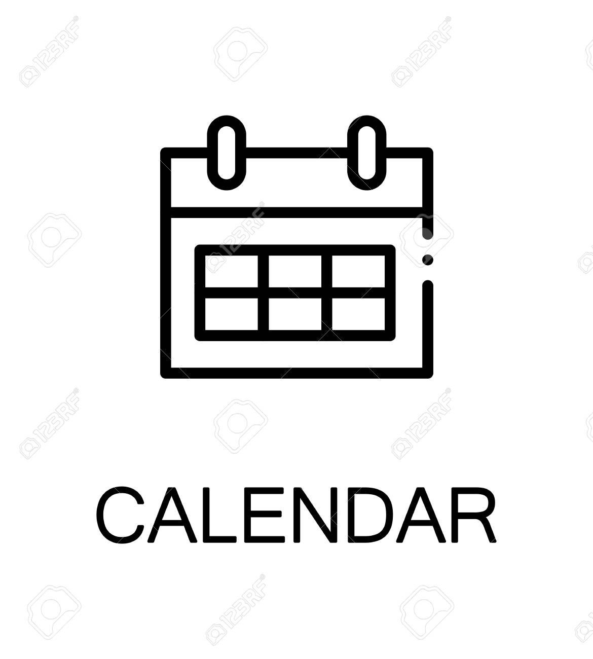 Simbolo De Calendario.Icona Del Calendario Unico Simbolo Di Alta Qualita Per Il Web Design O L Applicazione Mobile Segno Di Linea Sottile