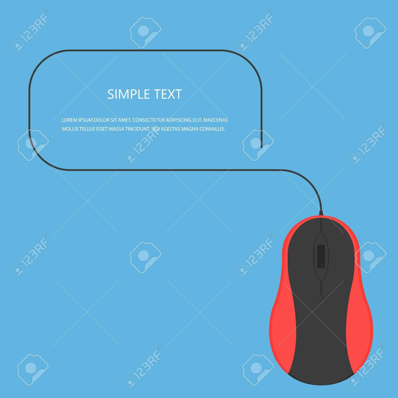 Mouse Vector Conceptcomputer In Modern Flat Style Office Computer Diagram Part This Technique On Background