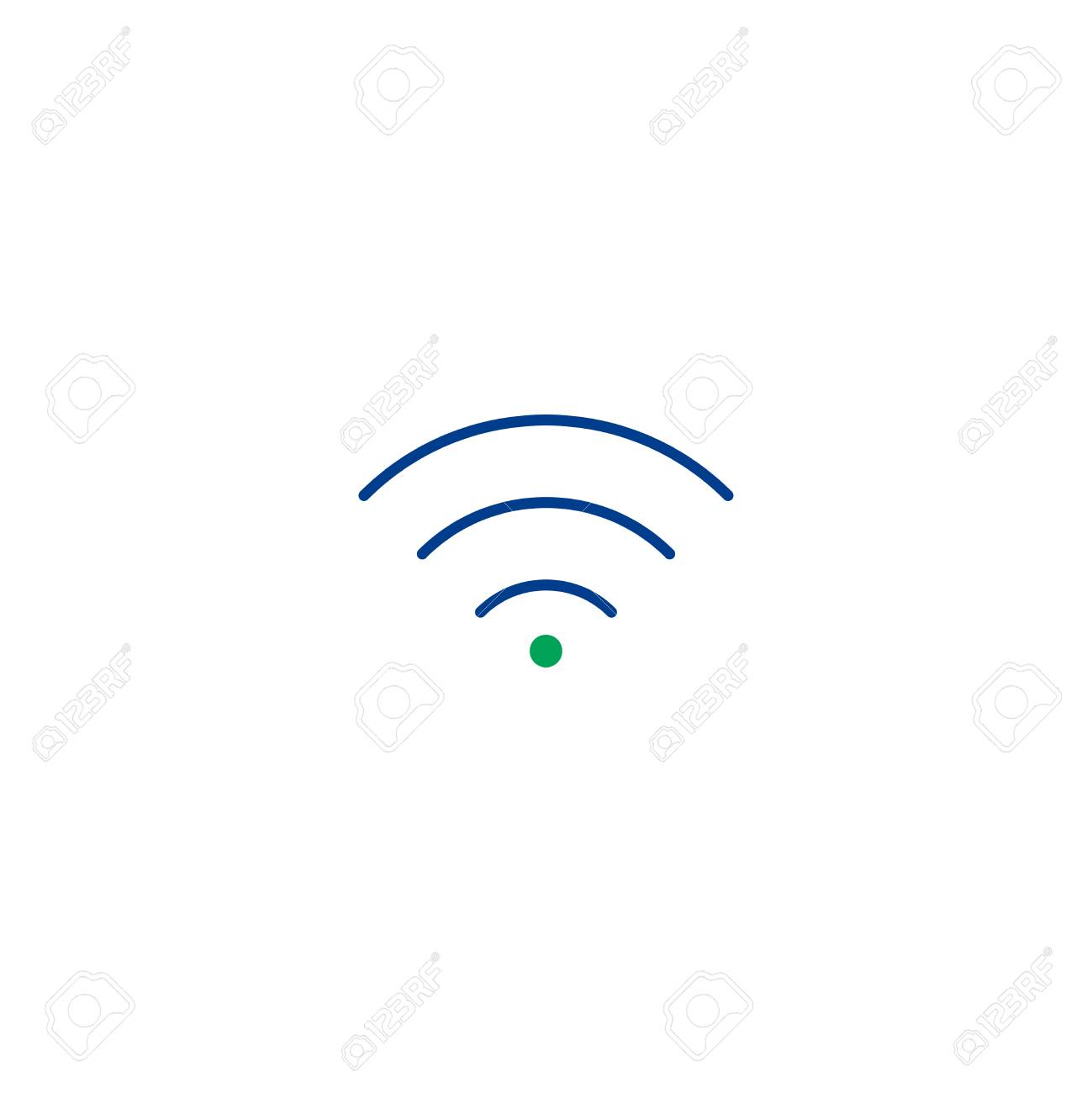 Wi Fi Flat Icon Single High Quality Symbol Of Line Wi Fi Vector For