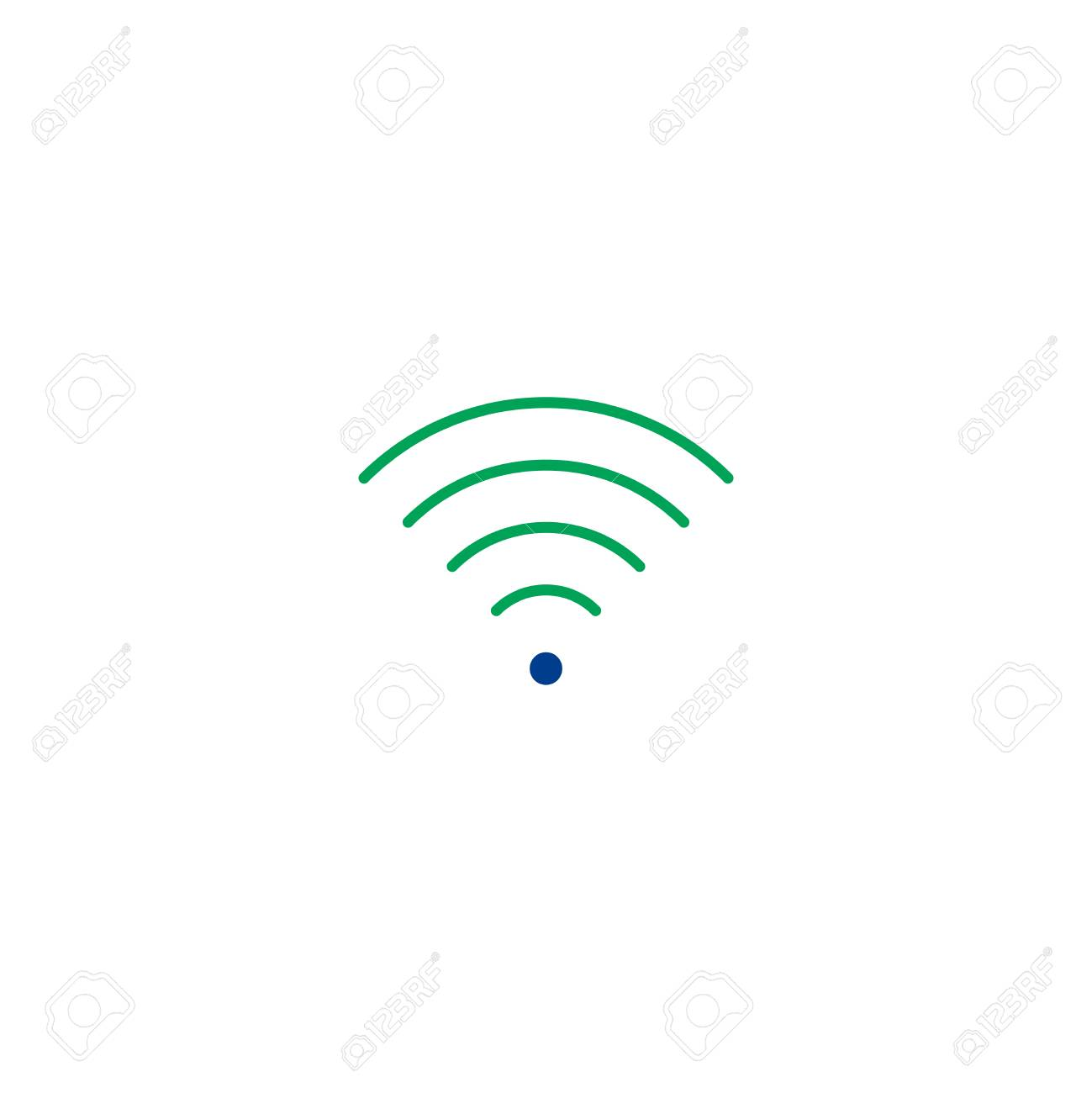 Wi Fi Flat Icon Single High Quality Symbol Of Line Wi Fi Vector