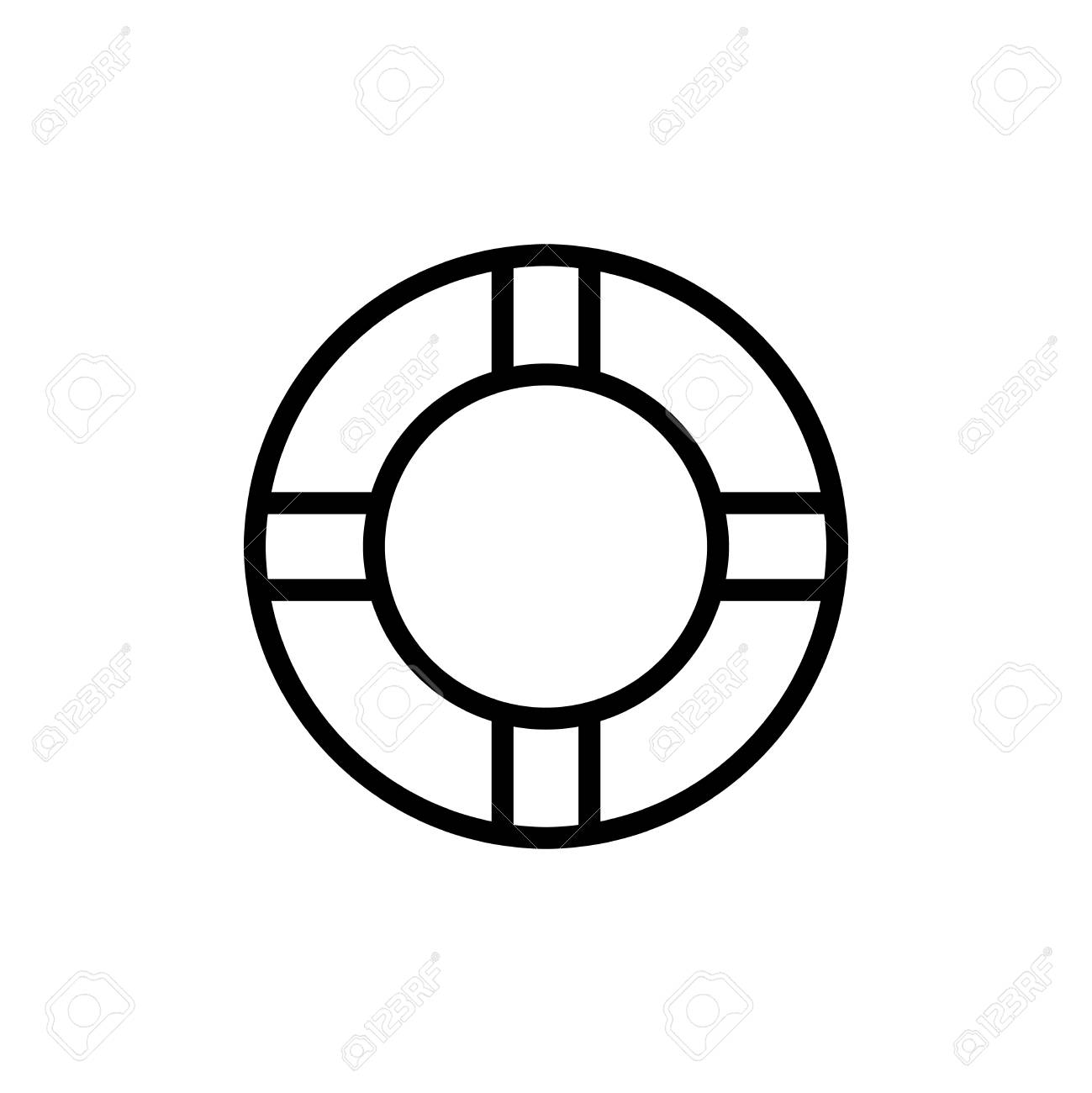 Lifebuoy Flat Icon. Single High Quality Outline Symbol Of Summer ...