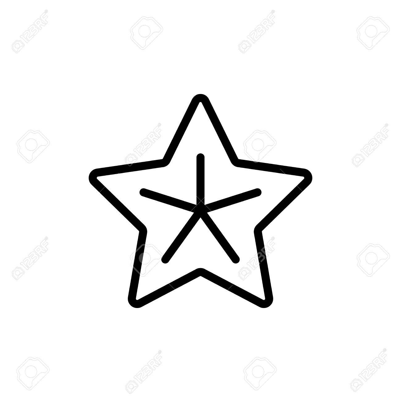 Starfish Flat Icon. Single High Quality Outline Symbol Of Summer ...