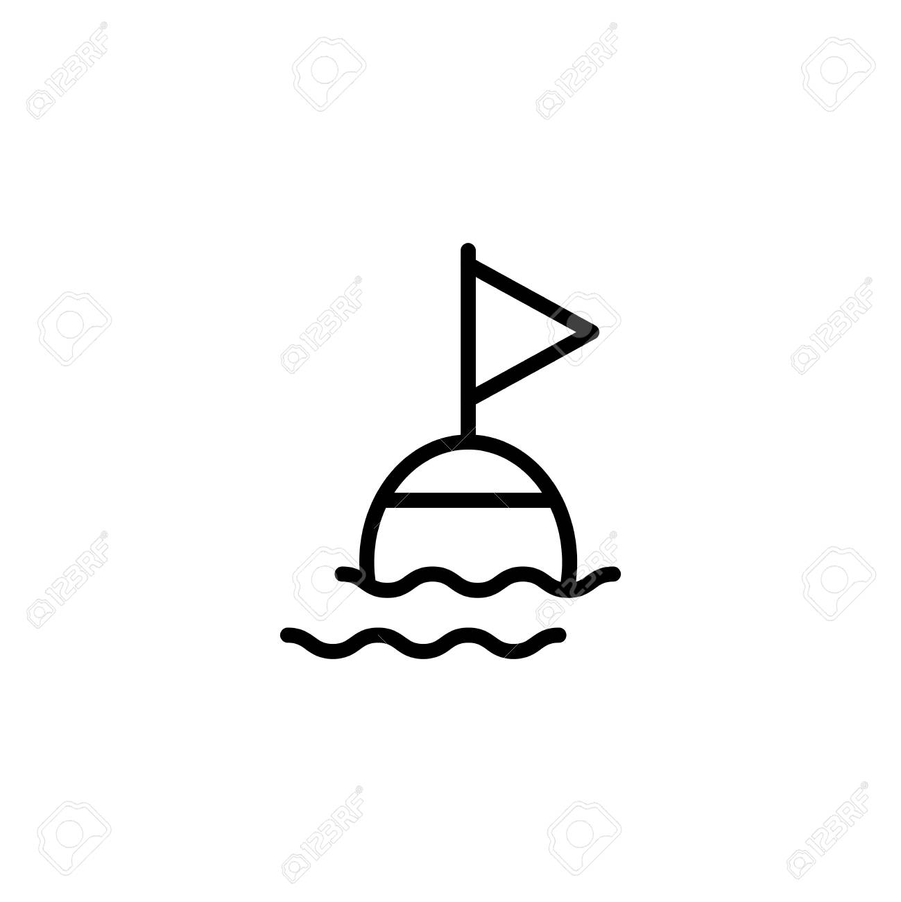 Buoy Flat Icon. Single High Quality Outline Symbol Of Summer ...