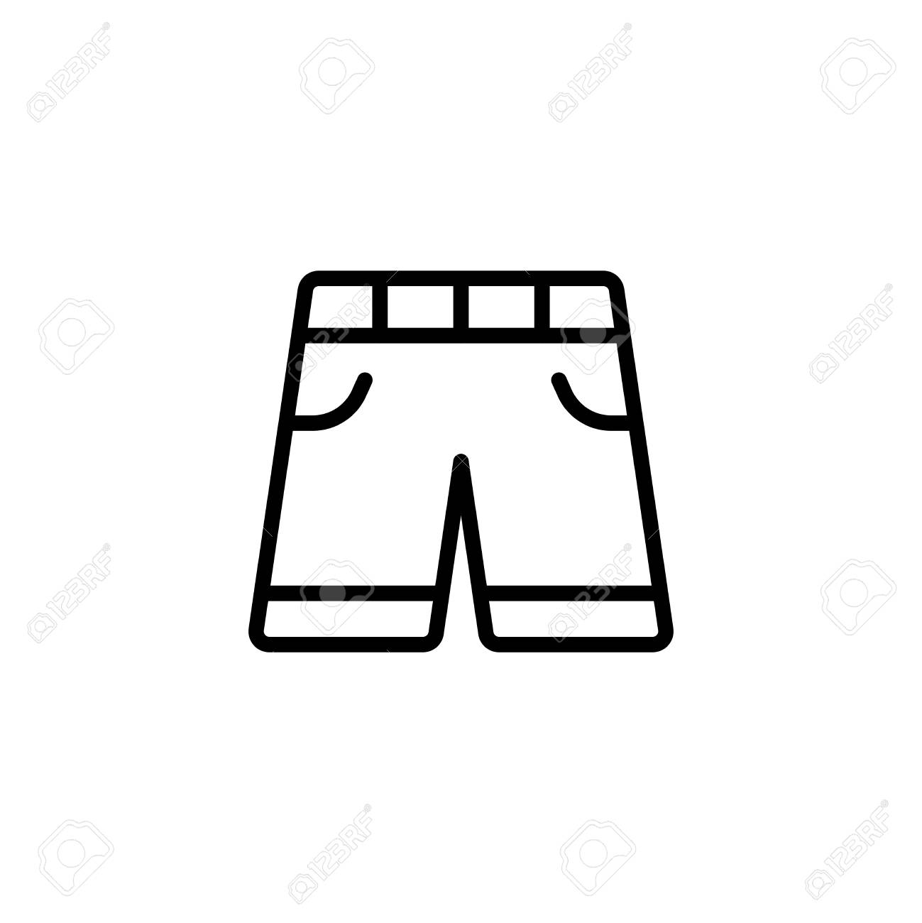 Shorts Flat Icon. Single High Quality Outline Symbol Of Summer ...