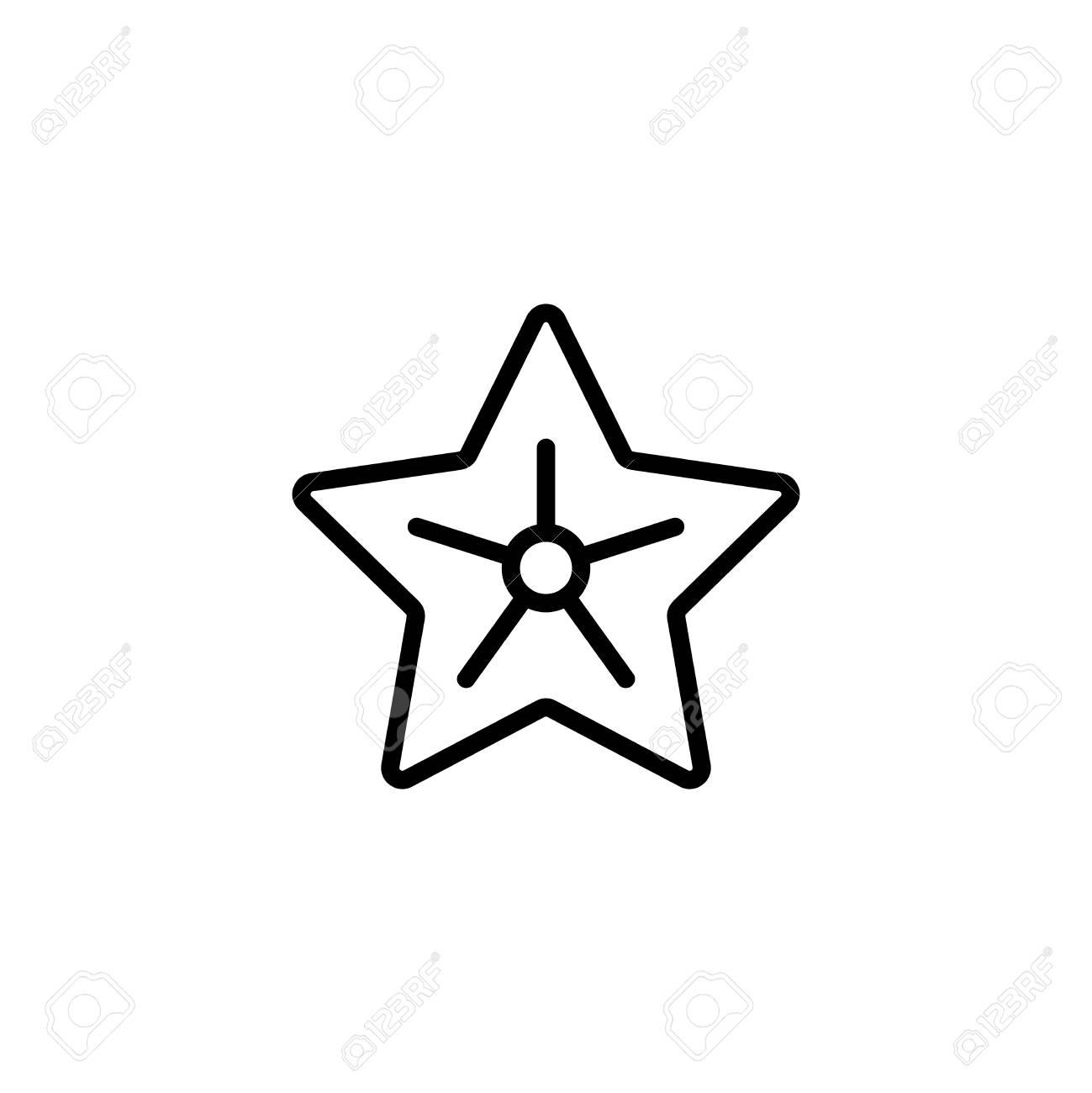 Icône Plate étoile De Mer Symbole Du Plan De Haute Qualité Unique De Lété Pour La Conception De Sites Web Ou Une Application Mobile Signes De Ligne