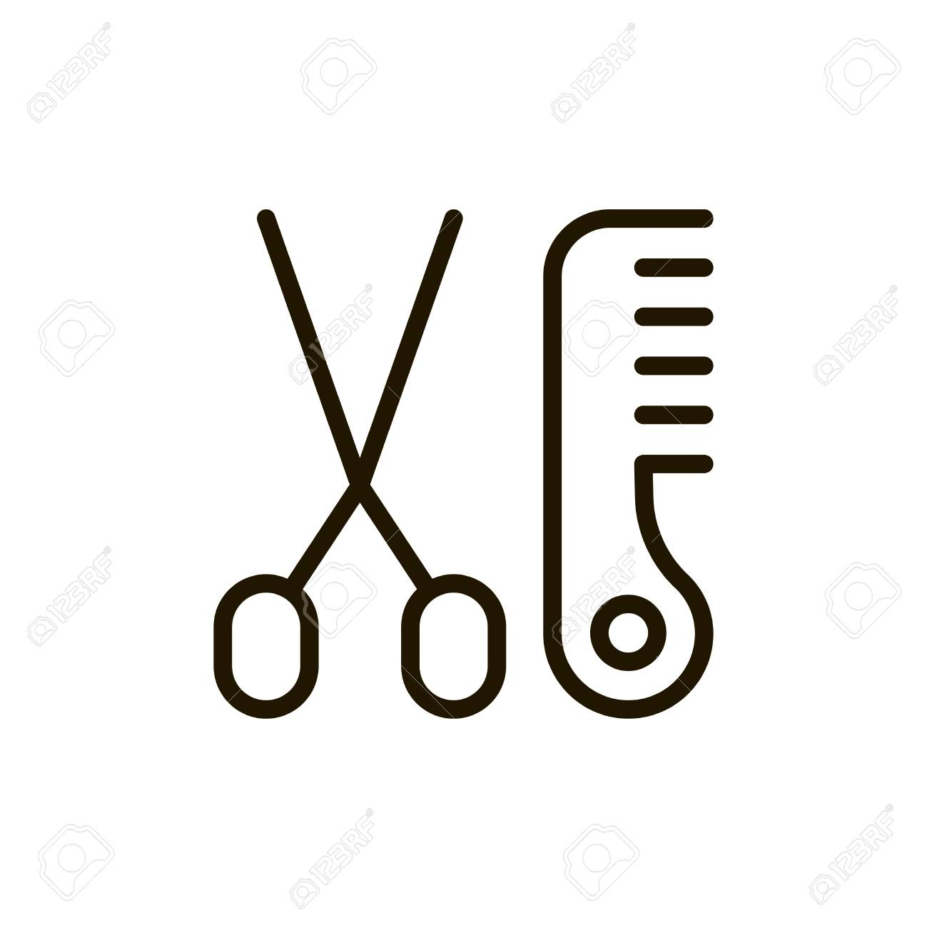 Haircut Flat Icon Single High Quality Outline Symbol Of Spa
