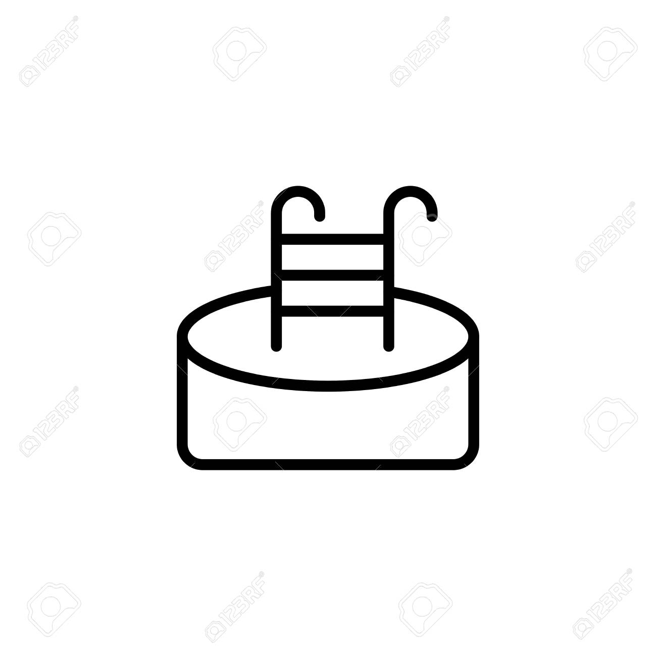 Pool Flat Icon Single High Quality Outline Symbol Of Water For