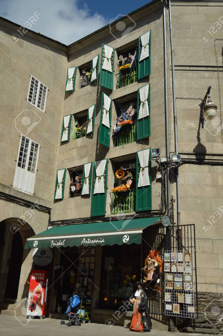Beautiful Facade Of A Witch Souvenirs Store In Lugo Travel