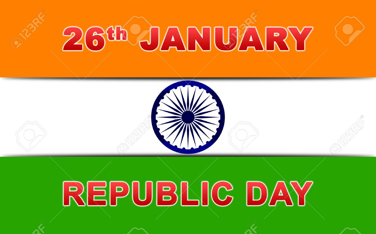 Indian Republic Day Wallpaper Vector Illustration With Ashoka