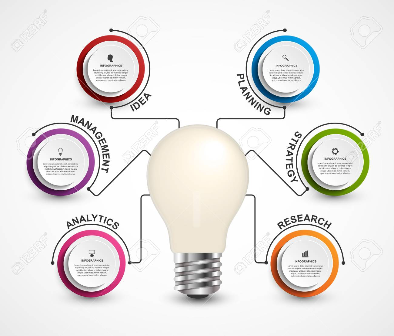creative 3d light bulb infographics template. simple infographic