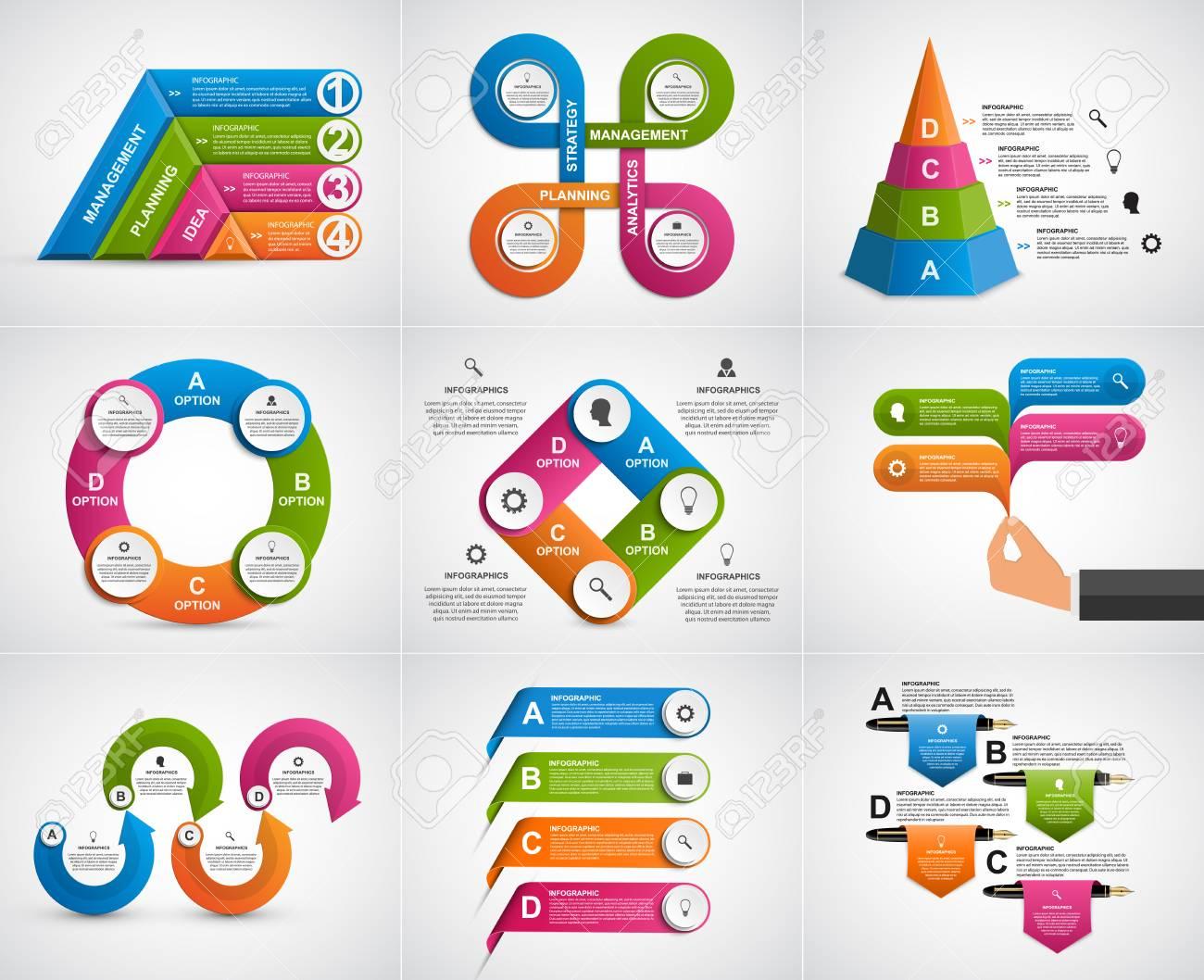 cc6b67bd5ab1a Foto de archivo - Infografía de recogida. Elementos de diseño. Infografía  para presentaciones de negocios o titular de información.