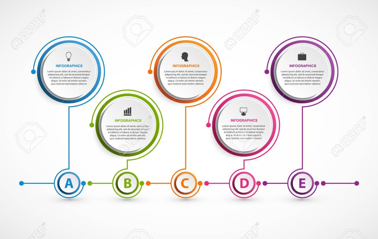 f2b4ff4cf68e0 Foto de archivo - Opciones abstractos plantilla infografía. Infografía para  presentaciones de negocios o titular de información.