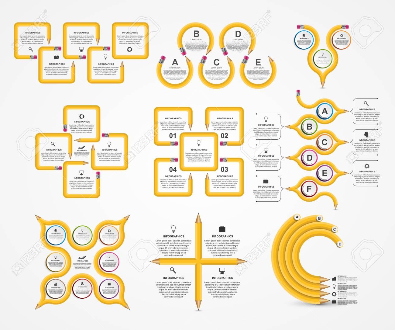 80427dfb31467 Foto de archivo - Plantilla de recogida de Infografía. Infografía para  presentaciones de negocios o titular de información.