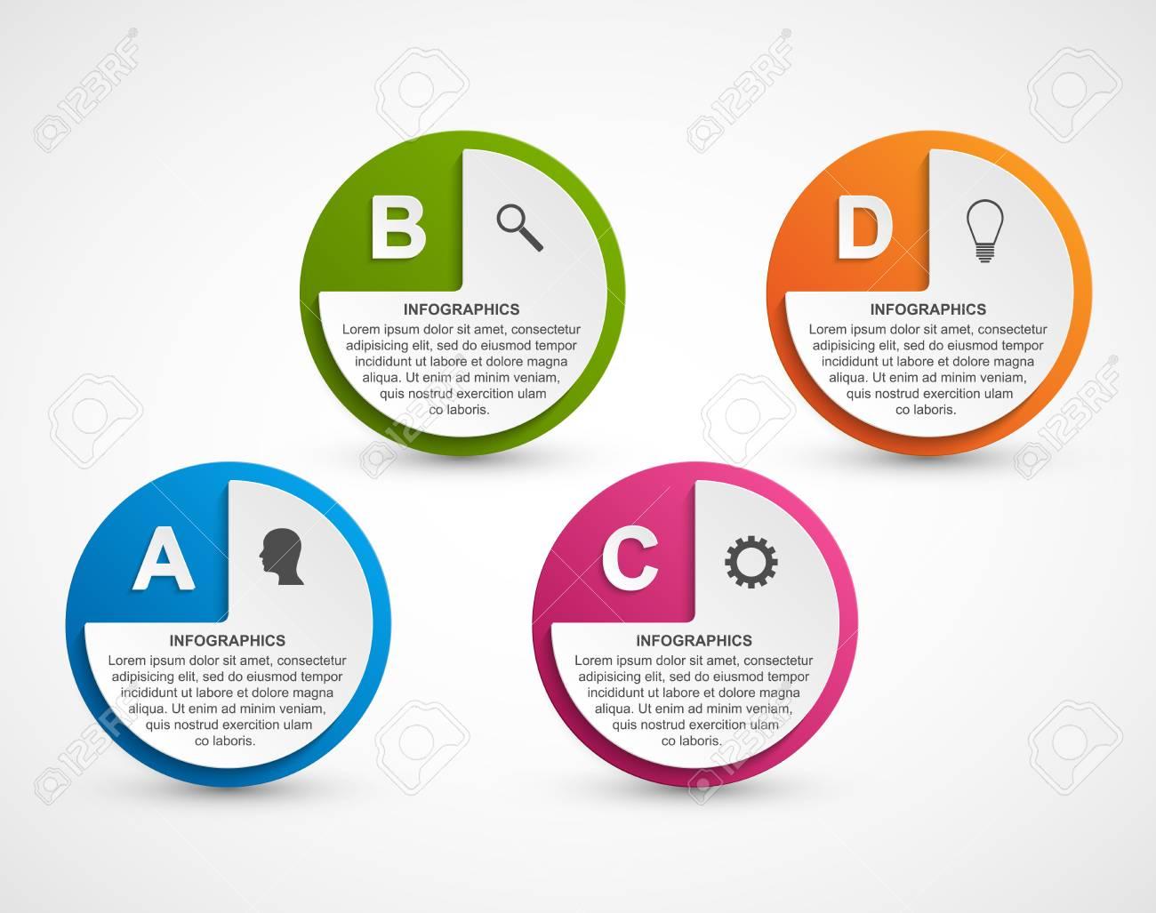 d0eb66cddc75a Foto de archivo - Opciones abstractas infografía infografía . infografía  para presentaciones de negocios o información de la bandera .