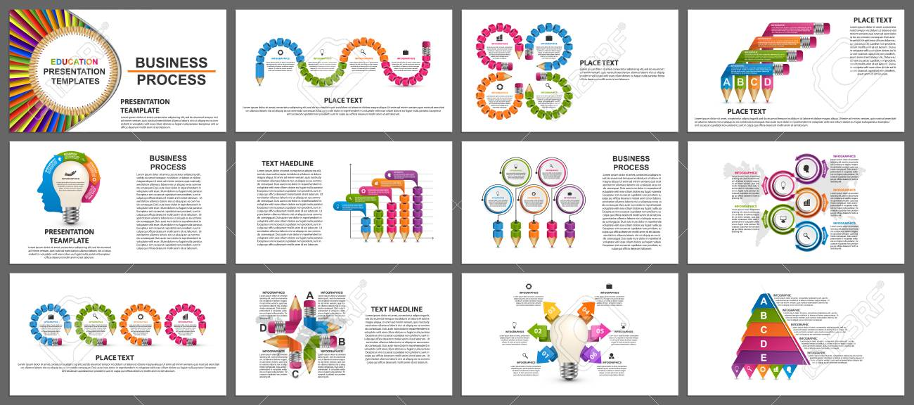Business presentation templates. Modern elements of infographic. Can be used for business presentations, leaflet, information banner and brochure cover design. - 115158733