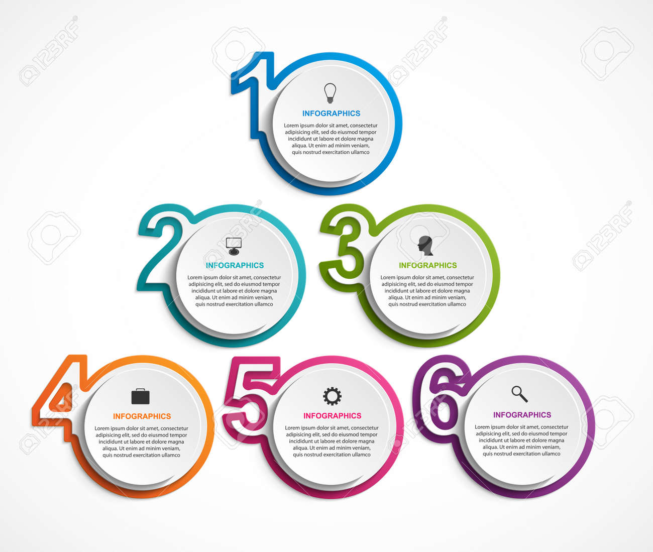 Numeric infographic template. Infographics for business presentations or information banner. - 122291916