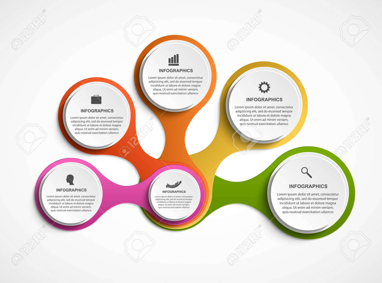 Abstract infographic in the form of metabolic. Design elements. - 157519139