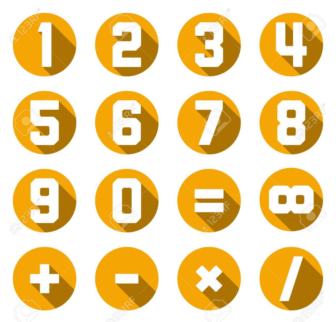 Set of isolated yellow flat numbers and math symbols royalty free set of isolated yellow flat numbers and math symbols stock vector 38437316 biocorpaavc Choice Image