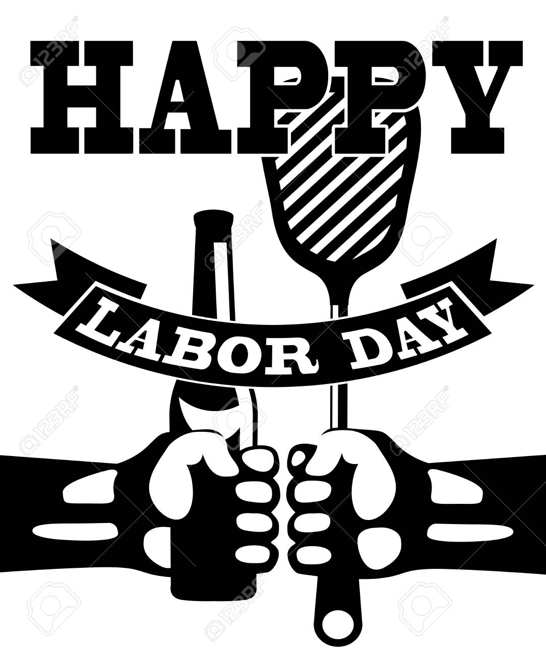 Labor Day Clip Art Black And White , Free Transparent Clipart - ClipartKey