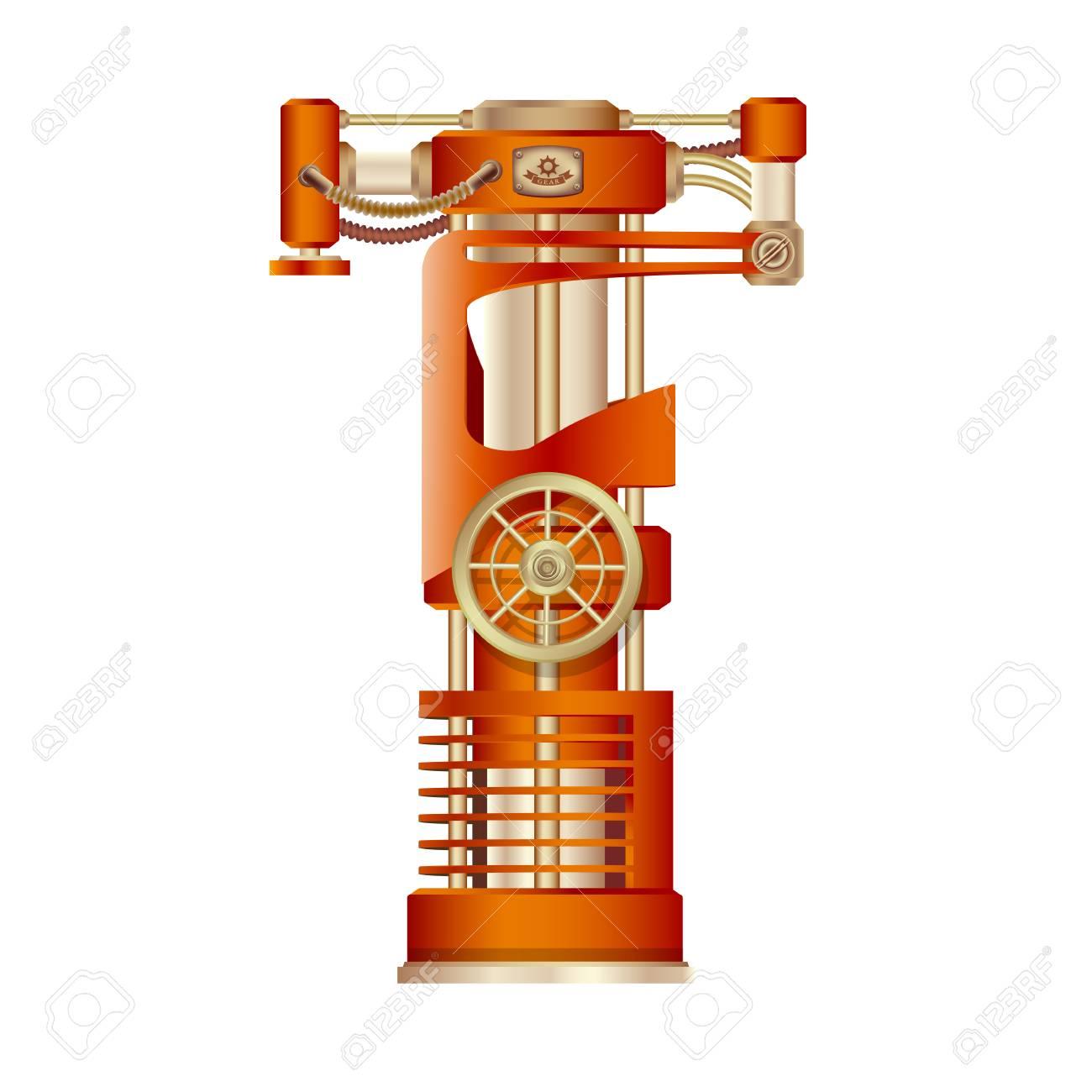 La Lettre T De L Alphabet Latin Faite Sous La Forme D Un Mecanisme