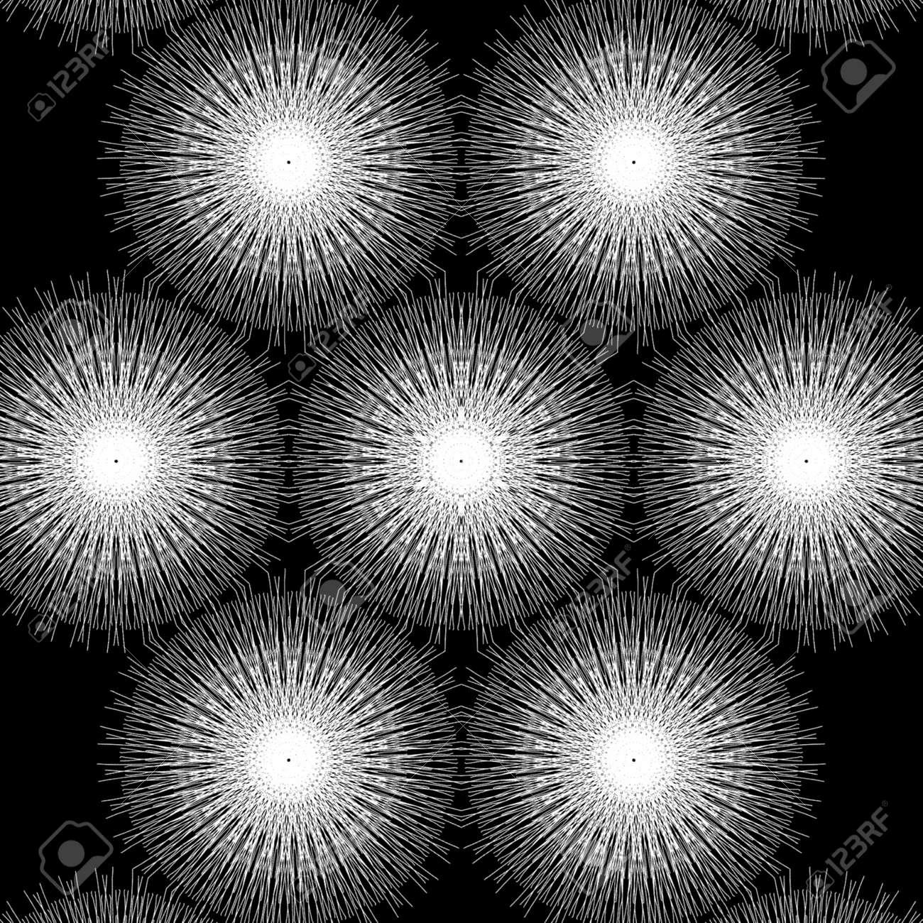 White pattern Design in black background - 155625915