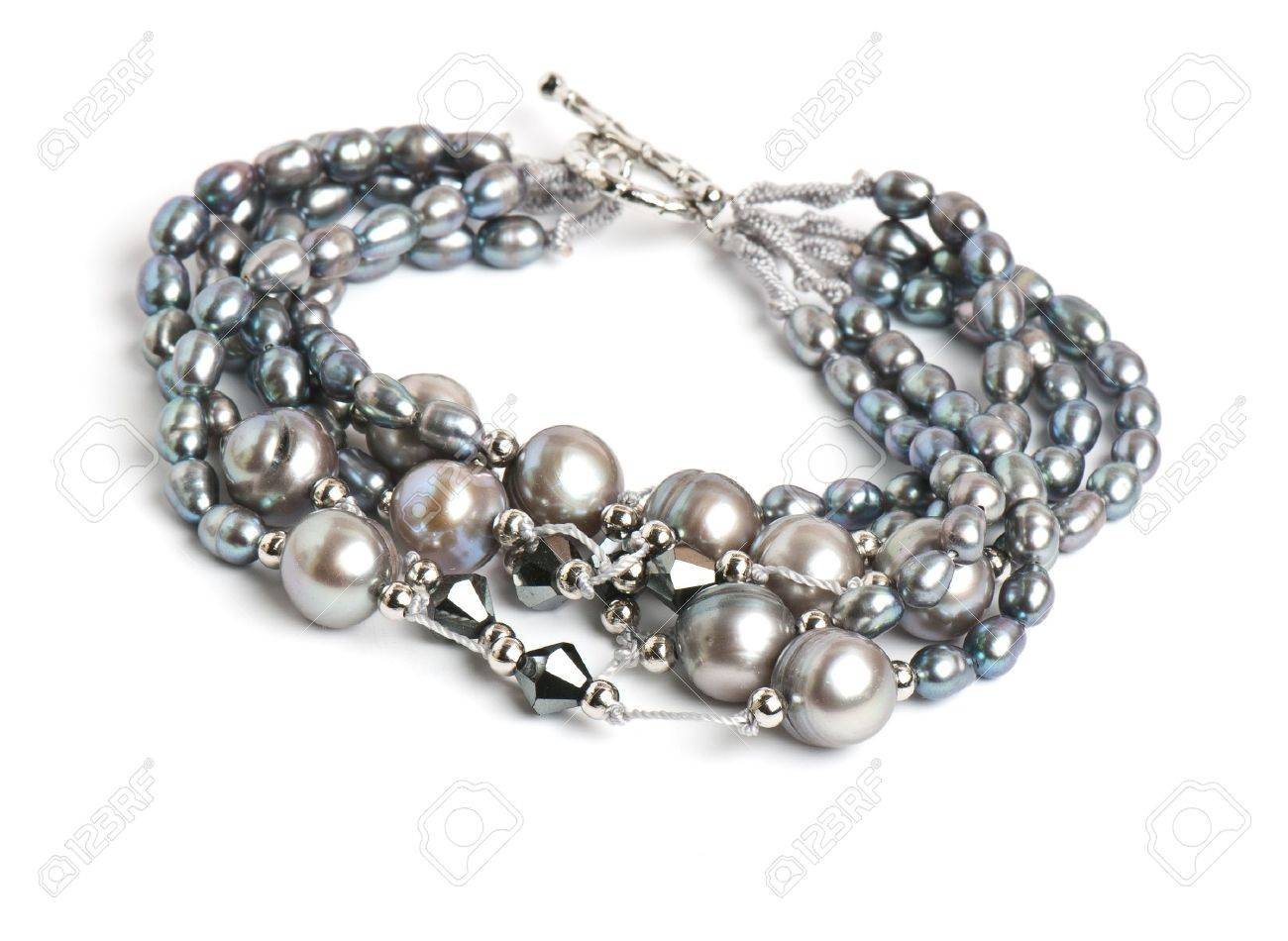 Expensive beautiful bracelet on the white isolated background Stock Photo - 11898904