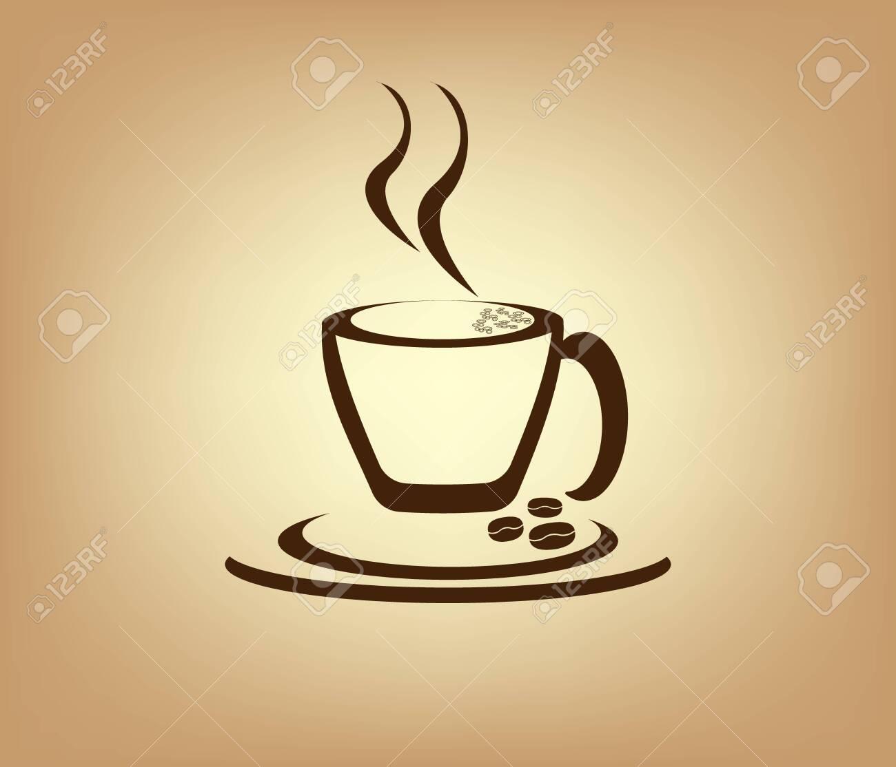 Caffe Logo Design enjoyment background - 147246085