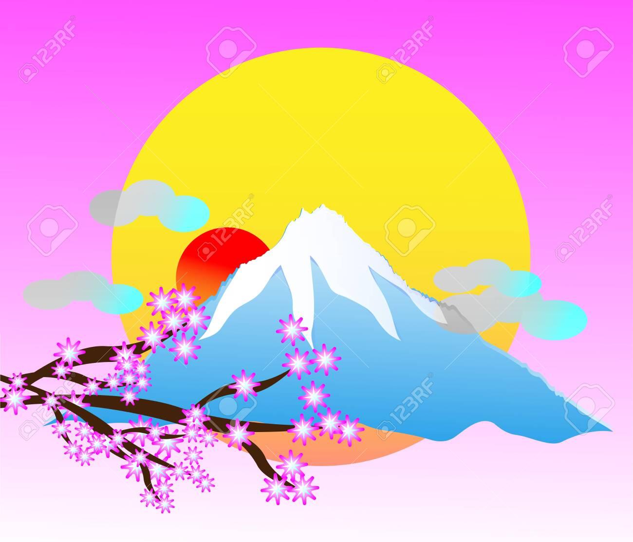 Japan fuji volcano scenery travle background - 149986073
