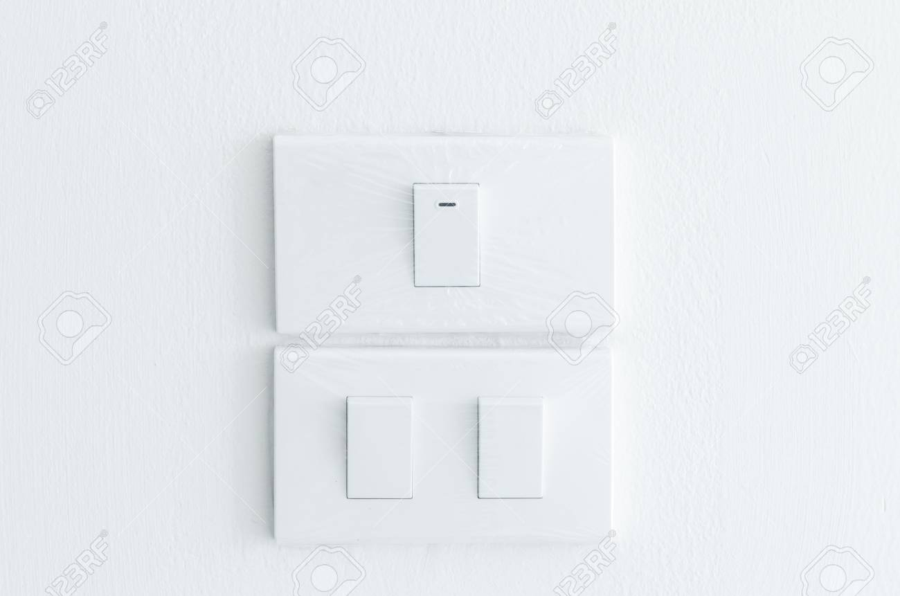 Plastic Light Switch Covers Light Switch Cover With Plastic On Wall Stock Photo Picture And