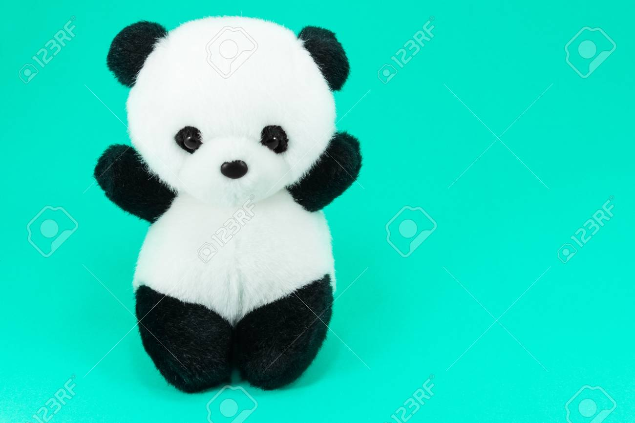 Panda Doll Black And White Black Rim Of Eyes Panda Toy For Children Stock Photo Picture And Royalty Free Image Image 84316904