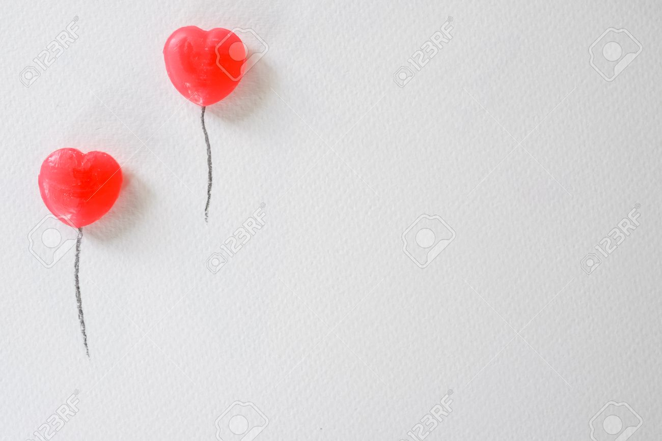 Sweetheart Balloon Presentation Background Valentine WeddingLove Stock Photo