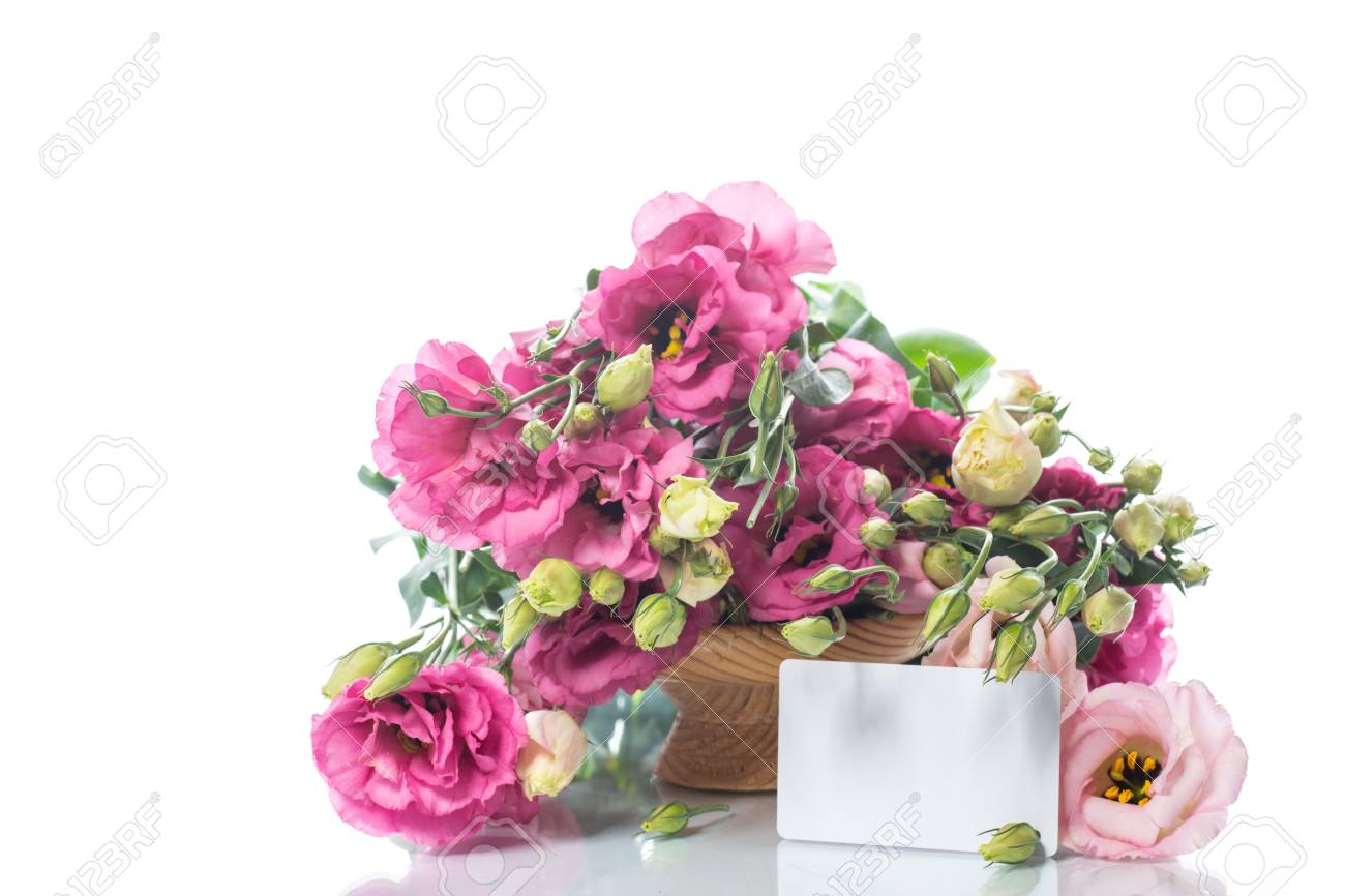 Beautiful bouquet of pink lisianthus flowers stock photo picture beautiful bouquet of pink lisianthus flowers stock photo 87407339 mightylinksfo