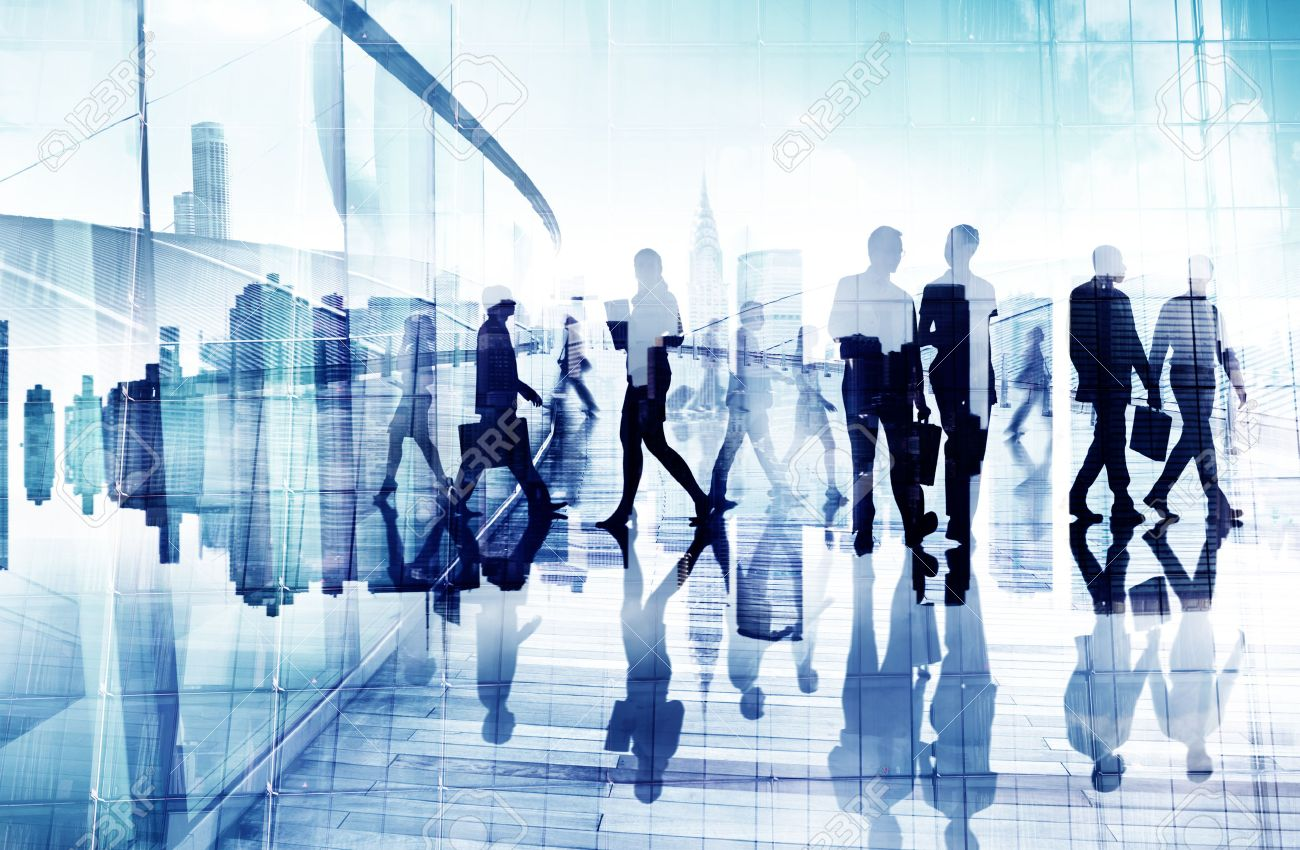 Abstract Image of Business People - 28863451