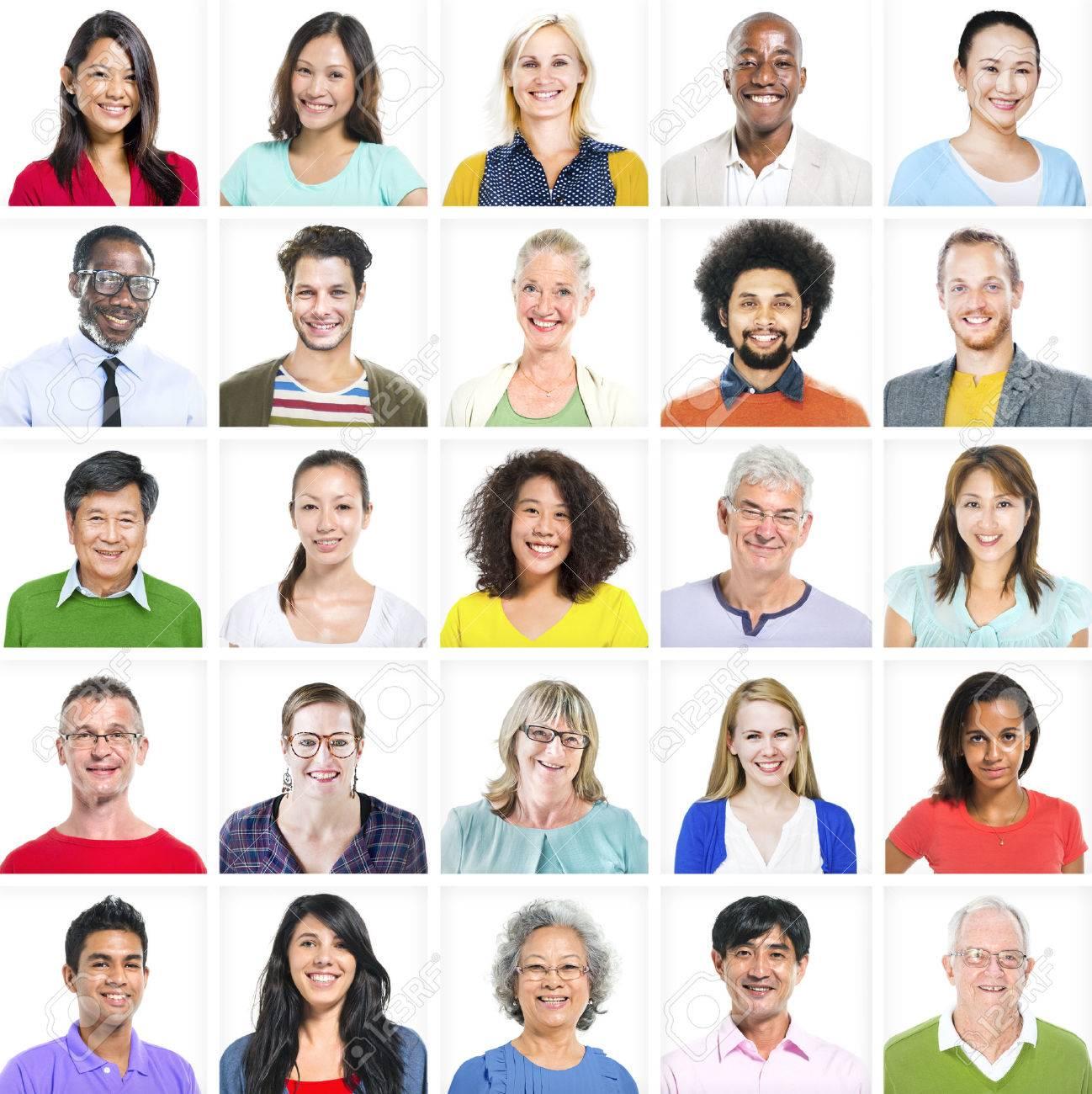 Portrait of Multiethnic Colorful Diverse People - 31293189