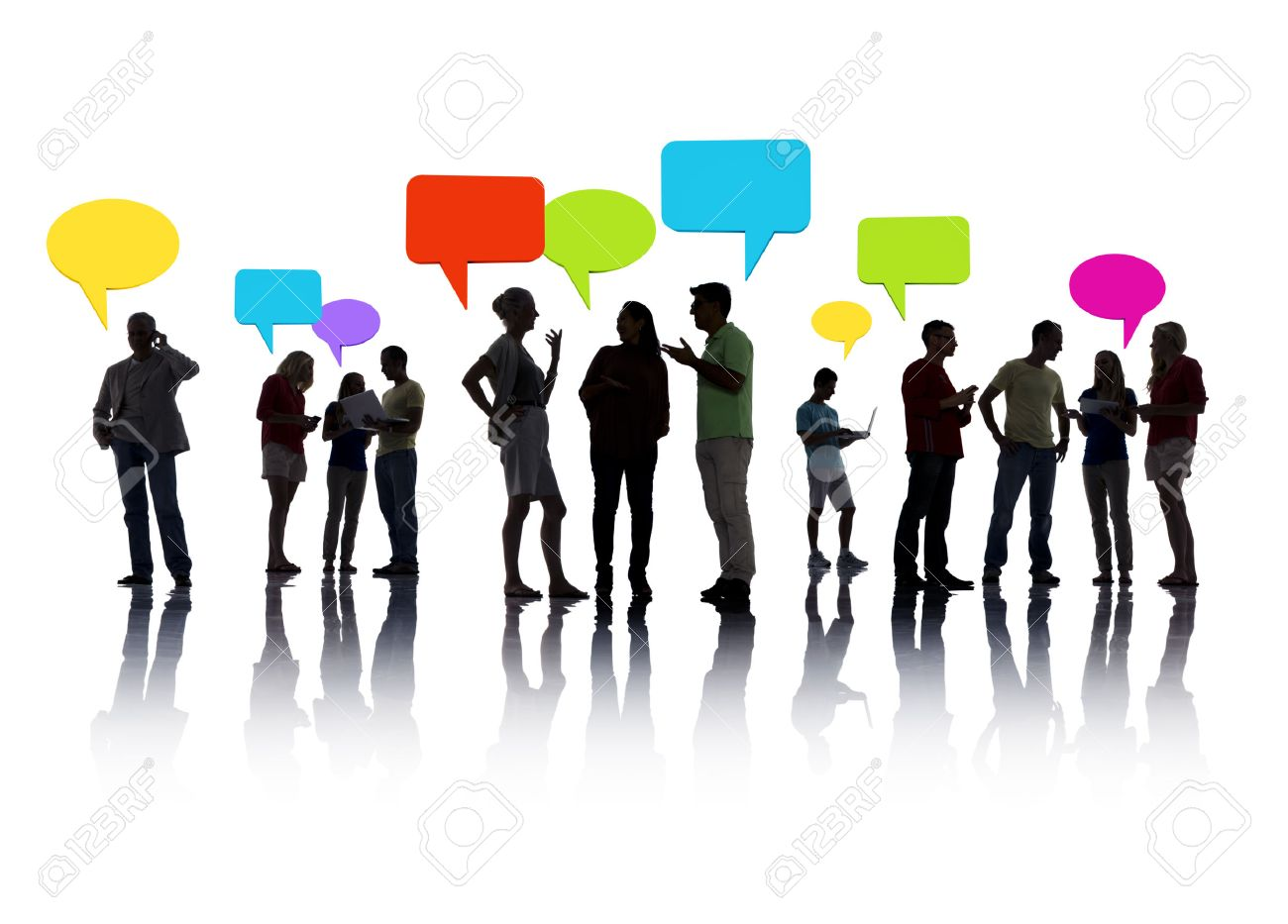 Group of People interacting Stock Photo - 31292937