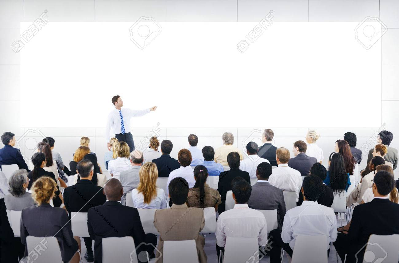 Large Business Presentation Photo Picture And Royalty Free – Business Presentation