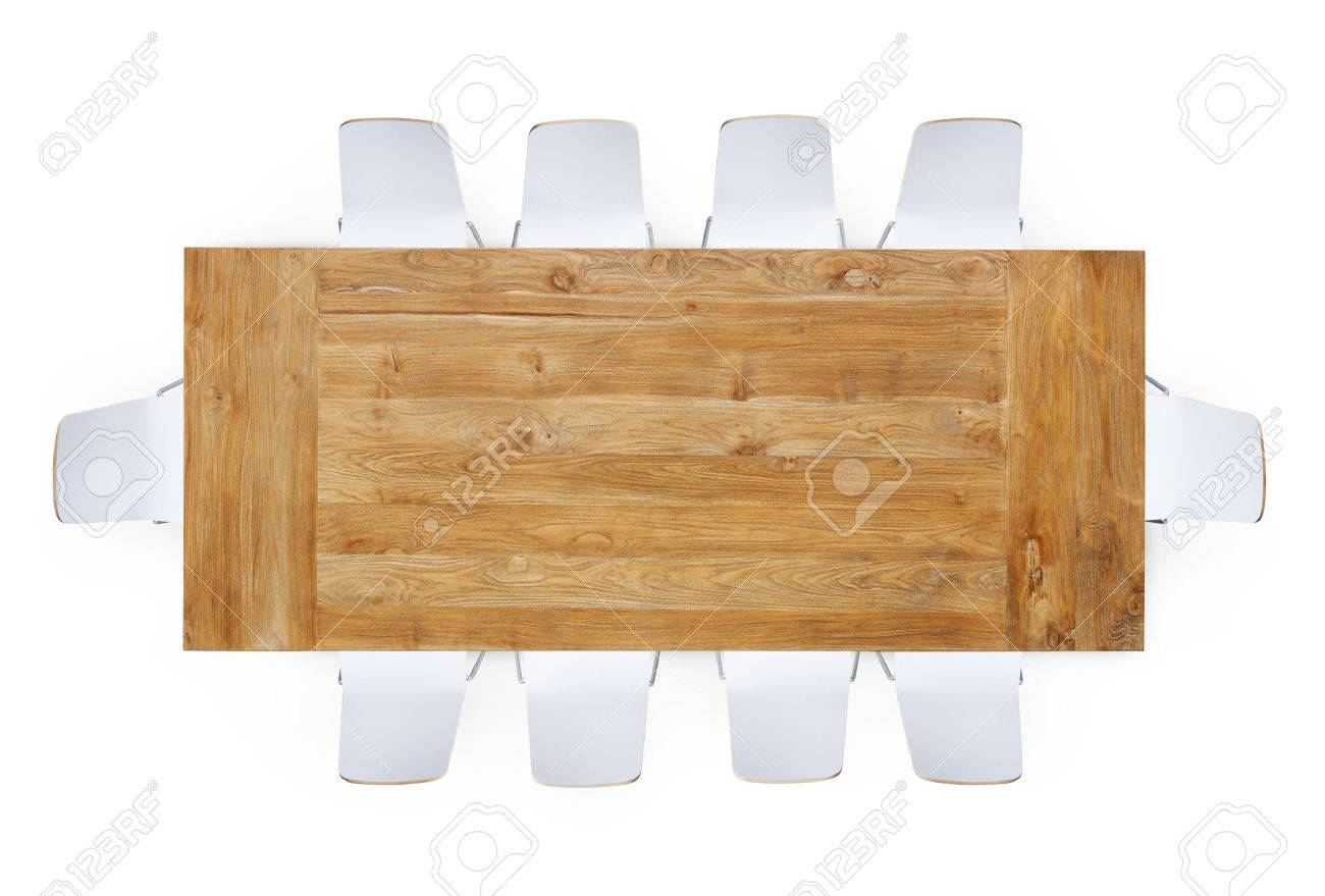 Table and chairs top view - Chair Top View Wooden Table With Ten Chairs Around